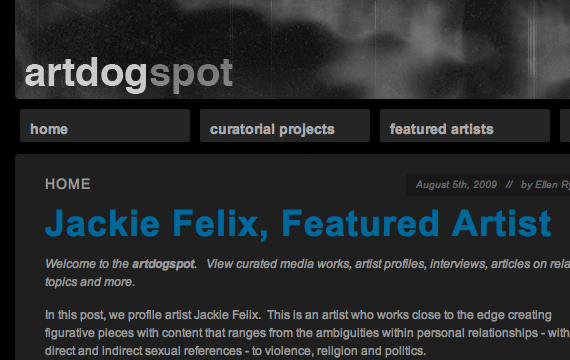artdogspot website